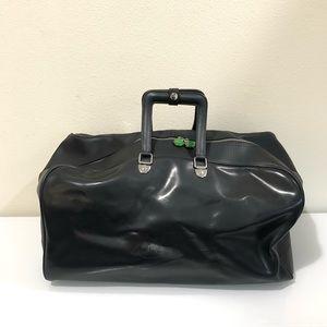 Nike Black Leather Duffle Bag
